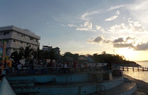 Kupang Harbor, where many local residents gather with friends to watch the sunset. (Nick Hughes/Indonesiaful)
