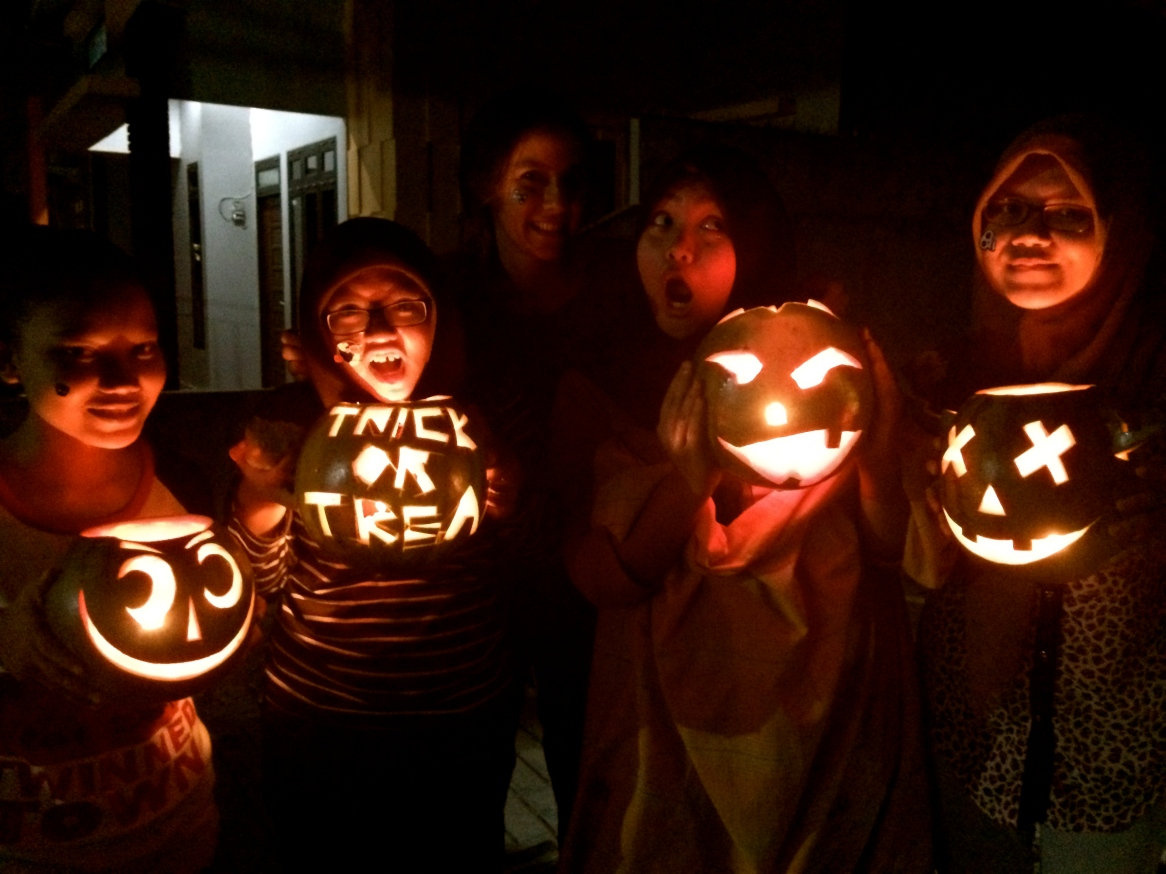 Watermelon Jack-O-Lanterns! Halloween in Pontianak, West Kalimantan. - By Blair Southworth, placed in Pontianak, West Kalimantan