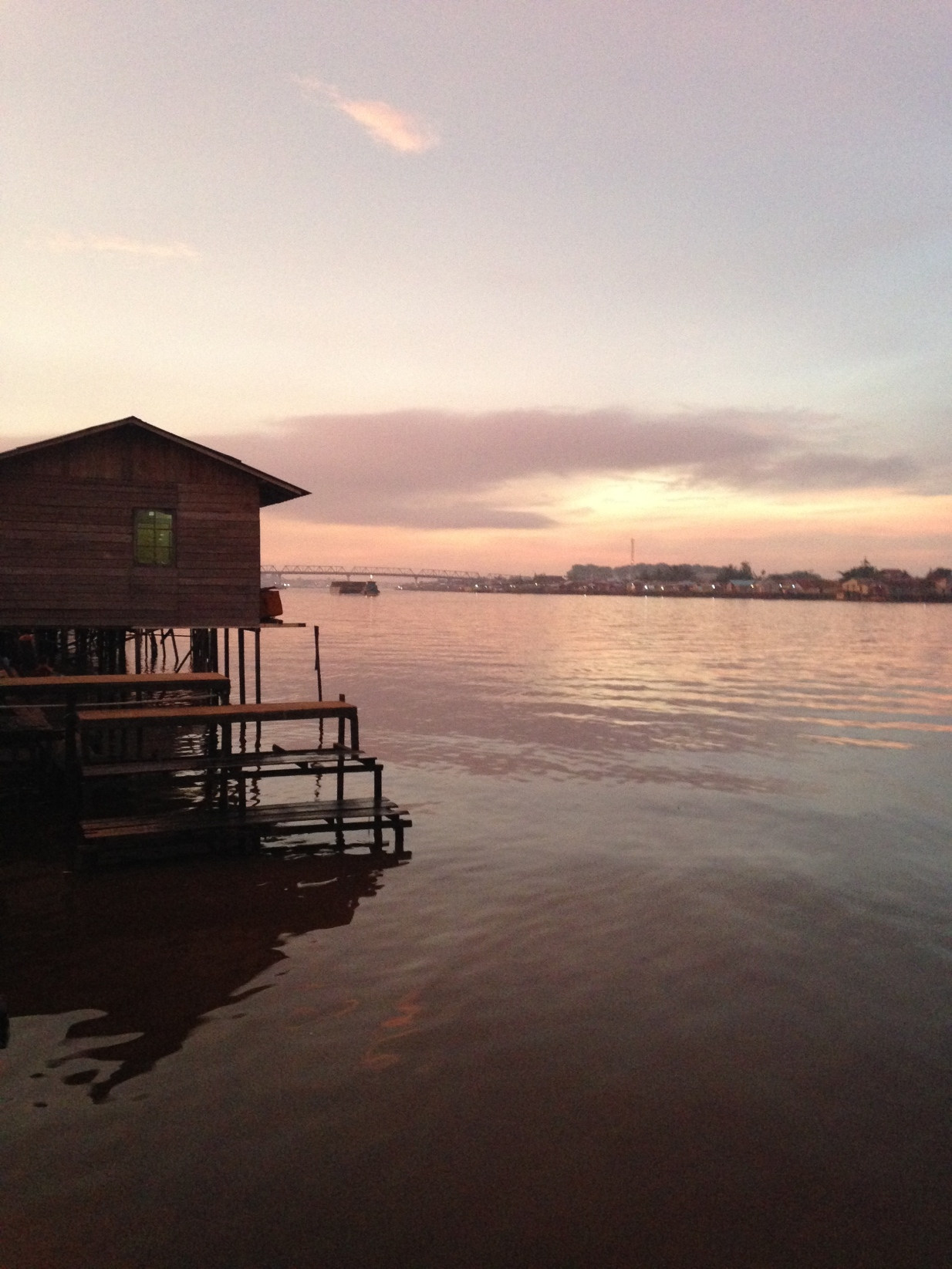 Afternoon stroll by Kapuas River, the longest river in Kalimantan. - By Bianca Rajan placed in Pontianak, West Kalimantan
