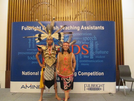 Nabila Fatiha and Simon Taufik Hidayat post-competition.