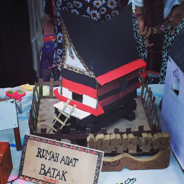 A model Batak home.