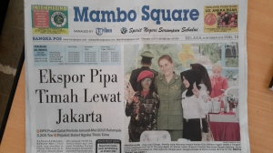 Mambo Square and the Bangka Pos both featured my participation in Drama Kolosal on their front pages.