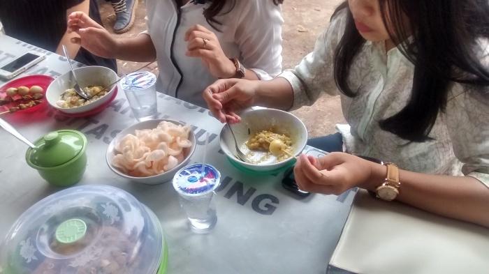 The tastiest bubur ayam in Bandar Lampung.