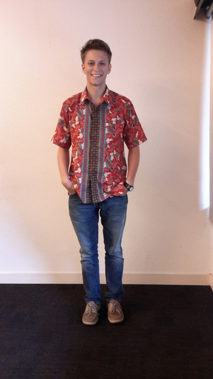Jared Lax, placed in Pontianak on Kalimantan, is wearing batik from Java.
