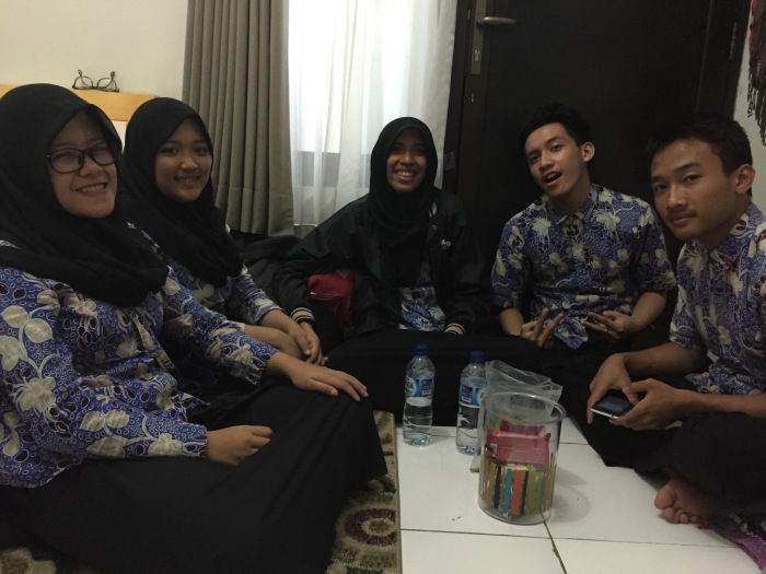 These students are wearing our school's student batik.