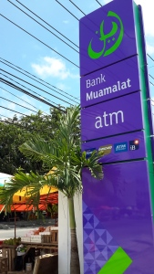 Bank Muamalat, one of Indonesia's standalone sharia-compliant banks. Photo credit to Kelly Fitzgerald.
