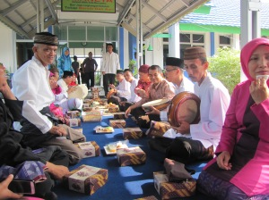 Nganggung, the celebration of the city of Pangkal Pinang's birthday, was a Thanksgiving-style affair complete with a seemingly endless supply of mealboxes.