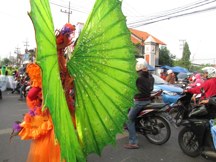 For one day only, the fantastic and the ordinary mingled side-by-side in Sepanjang, Sidoarjo.