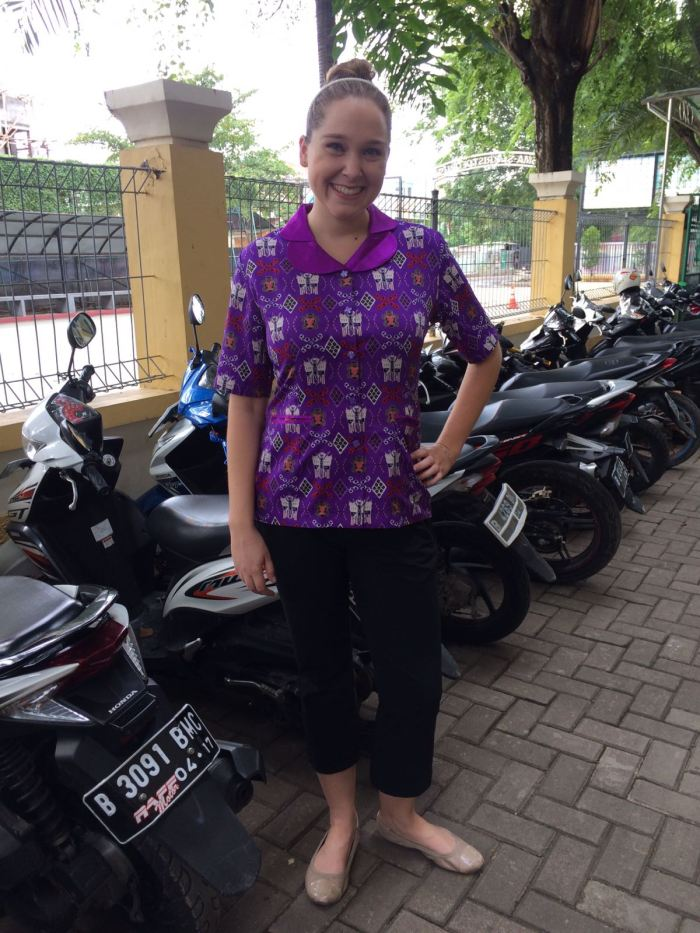 called batik, though it is a more modern printed variety. The motif ...