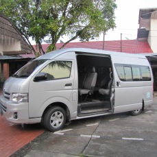 "Large, 18-passenger vans are the mode of transportation of choice for most groups of Indonesians. ""The more the merrier"" is a very true concept in Indonesia."