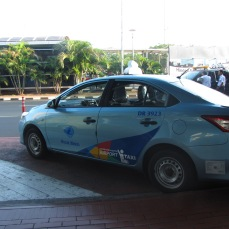 Blue Bird is the most reliable taxi company across the archipelago. Be cautious when using other taxi companies. If there is no meter, be sure to set a price before getting in the cab.